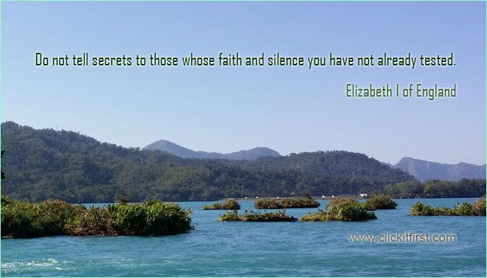 Famous Quotes of Queen Elizebeth